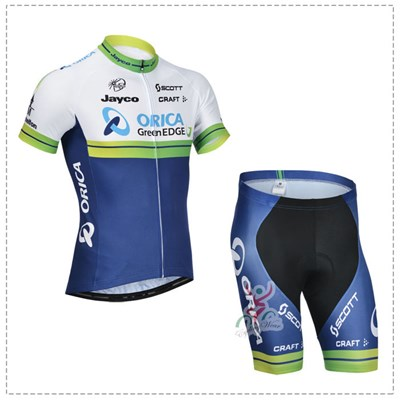 2014 Orica Greenedge Cycling Jersey Short Sleeve and Cycling Shorts Cycling Kits