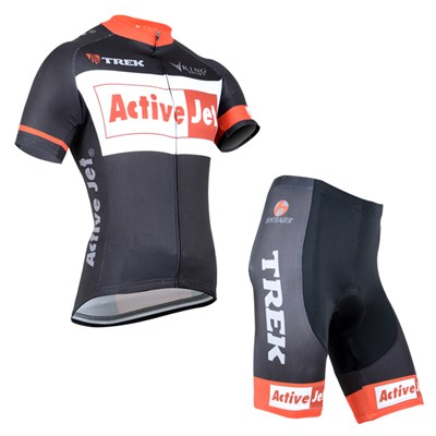 2014 TREK Active Jet Cycling Jersey Short Sleeve and Cycling Shorts Cycling Kits