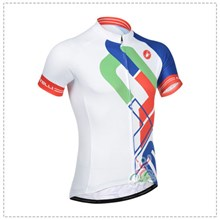 2014 Castelli White BlueCycling Jersey Short Sleeve Only Cycling Clothing