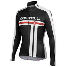 2014  Castelli Thermal Fleece Cycling Jersey Long Sleeve Only Cycling Clothing