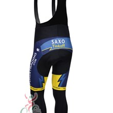 2013 Saxobank Thermal Fleece Cycling bib Pants Only Cycling Clothing