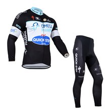 2014 QuickStep Thermal Fleece Cycling Jersey Long Sleeve and Cycling Pants