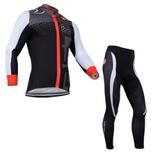 2014 CASTELLI Thermal Fleece Cycling Jersey Long Sleeve and Cycling Pants