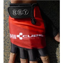 Cube Red Cycling Gloves Half Finger