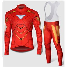 2014 TIron Man Thermal Fleece Cycling Jersey Long Sleeve and Cycling bib Pants