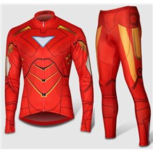2014 TIron Man Thermal Fleece Cycling Jersey Long Sleeve and Cycling Pants
