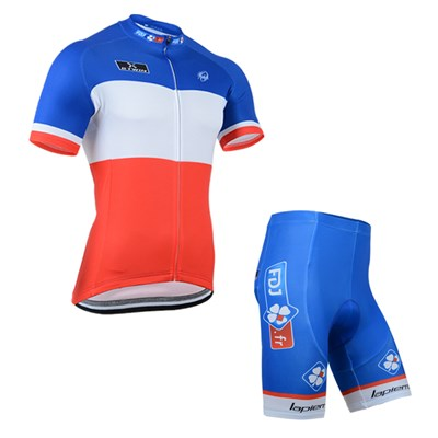 2014 FDJ Cycling Jersey Short Sleeve and Cycling Shorts Cycling Kits