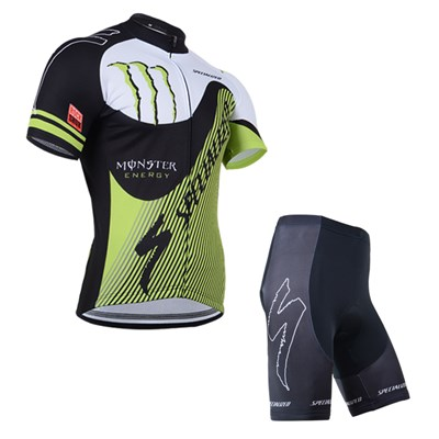 2014 MONSTER Cycling Jersey Short Sleeve and Cycling Shorts Cycling Kits