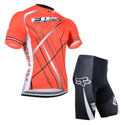 2014 Fox Red Cycling Jersey Short Sleeve and Cycling Shorts Cycling Kits