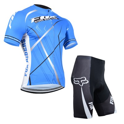2014 Fox Blue Cycling Jersey Short Sleeve and Cycling Shorts Cycling Kits