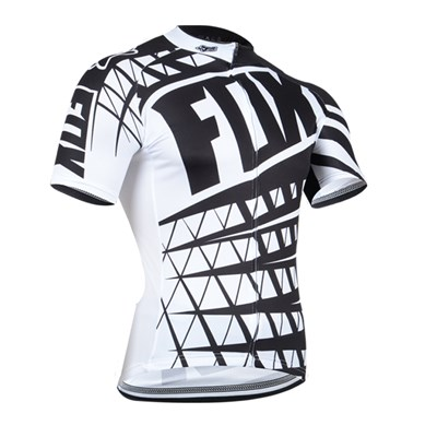 2014 FOX white black Cycling Jersey Short Sleeve Only Cycling Clothing