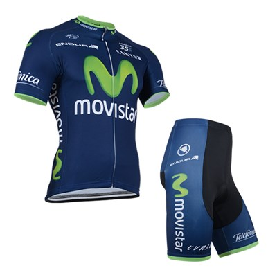 2014 Movistar Cycling Jersey Short Sleeve and Cycling Shorts Cycling Kits