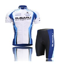 2014 Subaru Cycling Jersey Short Sleeve and Cycling Shorts Cycling Kits S
