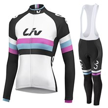 2015 WOMEN LIV Cycling Jersey Long Sleeve and Cycling bib Pants Cycling Kits Strap