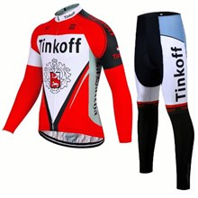 2017 Tinkoff Cycling Jersey Long Sleeve and Cycling Pants Cycling Kits