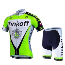 2017 Tinkoff fluorescent green Cycling Jersey Short Sleeve Maillot Ciclismo and Cycling Shorts Cycling Kits cycle jerseys Ciclismo bicicletas