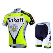 2017 Tinkoff fluorescent yellow Cycling Jersey Short Sleeve Maillot Ciclismo and Cycling Shorts Cycling Kits cycle jerseys Ciclismo bicicletas