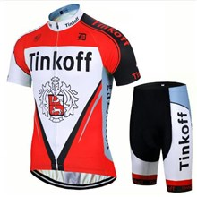 2017 Tinkoff red Cycling Jersey Short Sleeve Maillot Ciclismo and Cycling Shorts Cycling Kits cycle jerseys Ciclismo bicicletas