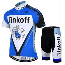 2017 Tinkoff blue Cycling Jersey Short Sleeve Maillot Ciclismo and Cycling Shorts Cycling Kits cycle jerseys Ciclismo bicicletas
