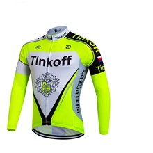 2017 Tinkoff Fluo yellow Cycling Jersey Long Sleeve Only Cycling Clothing cycle jerseys Ropa Ciclismo bicicletas maillot ciclismo