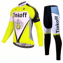 2017 Tinkoff yellow Cycling Jersey Long Sleeve and Cycling Pants Cycling Kits