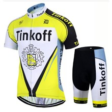 2017 Tinkoff yellow Cycling Jersey Short Sleeve Maillot Ciclismo and Cycling Shorts Cycling Kits cycle jerseys Ciclismo bicicletas