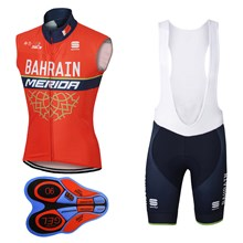 2017 BAHRAIN MERIDA  Cycling Maillot Ciclismo Vest Sleeveless and Cycling Shorts Cycling Kits cycle jerseys Ciclismo bicicletas