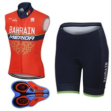2017 BAHRAIN MERIDA  Cycling Vest Maillot Ciclismo Sleeveless and Cycling Shorts Cycling Kits cycle jerseys Ciclismo bicicletas