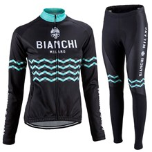 2017 bianchi  Cycling Jersey Long Sleeve and Cycling Pants Cycling Kits