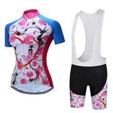 Women's TELEYI Cycling Jersey Maillot Ciclismo Short Sleeve and Cycling bib Shorts Cycling Kits Strap cycle jerseys Ciclismo bicicletas