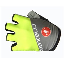 2017 Castelli Fluo Grey Cycling Glove Short Finger bicycle sportswear mtb racing ciclismo men bycicle tights bike clothing