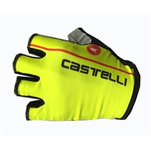2017 Castelli Fluo Yellow Cycling Glove Short Finger bicycle sportswear mtb racing ciclismo men bycicle tights bike clothing
