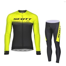 2018 Scott Cycling Jersey Long Sleeve and Cycling Pants Cycling Kits XS