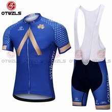 2018 AQUA BLUE Cycling Jersey Maillot Ciclismo Short Sleeve and Cycling bib Shorts Cycling Kits Strap cycle jerseys Ciclismo bicicletas