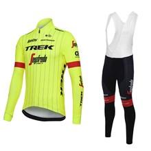 0f3c8c8a8 ... 2018 TREK SEGAFREDO Cycling Jersey Long Sleeve and Cycling bib Pants  Cycling Kits Strap