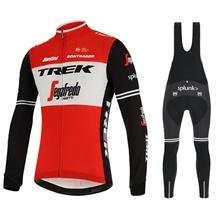 a5dcd55ff 2019 TREK Thermal Fleece Cycling Jersey Long Sleeve Ropa Ciclismo Winter  and Cycling bib Pants ropa