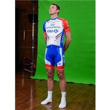 2019 groupama fdj Cycling Jersey Maillot Ciclismo Short Sleeve and Cycling  bib Shorts Cycling Kits Strap 47578244f