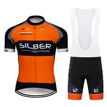 3f1816212 2019 SILBER Cycling Jersey Maillot Ciclismo Short Sleeve and Cycling bib  Shorts Cycling Kits Strap cycle